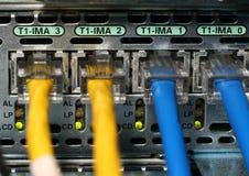 Conexiones T1 Fotografía de archivo