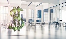 Conexiones y conceptos del establecimiento de una red como medios de la ganancia del dinero encendido Imagen de archivo libre de regalías