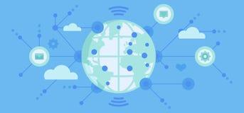 Conexiones y datos globales Foto de archivo libre de regalías