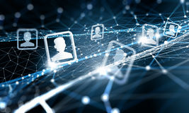 Conexão e comunicação da Web Fotos de Stock