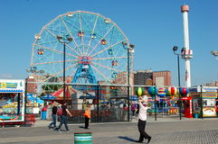 Coney Island Amusement Park Stock Photography