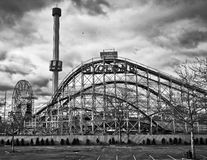 Coney Island amusement park Stock Photo