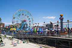 Coney island amusement park Royalty Free Stock Photos