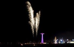 Free Coney Island Beach Fireworks Royalty Free Stock Image - 43817206