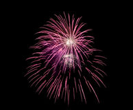 Coney Island Beach Fireworks Royalty Free Stock Photography