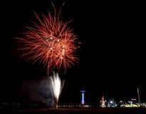 Coney Island Beach Fireworks Royalty Free Stock Photo