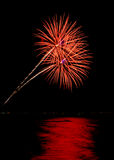Coney Island Beach Fireworks Royalty Free Stock Images