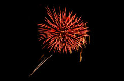 Coney Island Beach Fireworks Royalty Free Stock Image