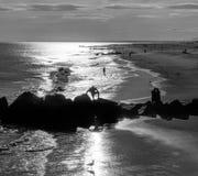 Coney Island Beach in New York City stock photography