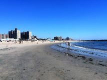 Coney Island beach. New York Coney island day view Stock Image