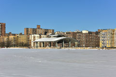 Coney Island Beach with Snow Royalty Free Stock Photography