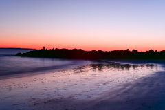 Coney Island Beach Sunset stock photo