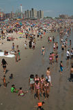 Coney Island Beach Weekend NYC USA. New Yorkers enjoy a day at Coney Island Beach. Memorial Day 2011 stock photography