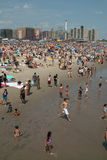 Coney Island Beach Weekend NYC USA Royalty Free Stock Images