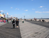 Coney Island boardwalk stock image