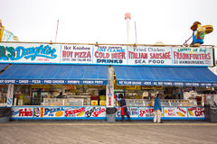 Coney Island Boardwalk Royalty Free Stock Images