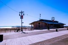 Coney Island Boardwalk royalty free stock image
