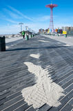 Coney Island boardwalk and beach New York City Royalty Free Stock Photo
