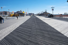 Coney Island boardwalk and beach New York City Royalty Free Stock Photos