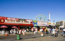 Coney Island Boardwalk Brooklyn, NY Royalty Free Stock Photo