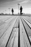 Coney Island boardwalk detail Royalty Free Stock Image
