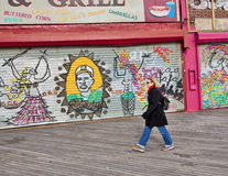 Coney Island Boardwalk Stock Photography