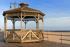 Coney Island Boardwalk Pavilion. Gazebo at coney Island in New York City Stock Image
