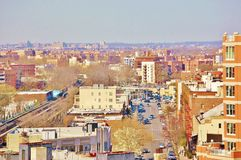 Coney island brooklyn new york air view unique Royalty Free Stock Images