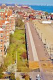 Coney island brooklyn new york air view unique Royalty Free Stock Photo