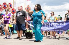 Coney Island, Brooklyn, New York, June 22, 2019: Annual Mermaid Parade