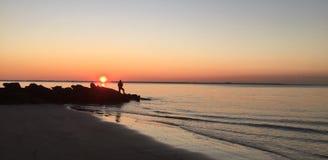 Coney Island Brooklyn New York Morning Fishing Stock Photo