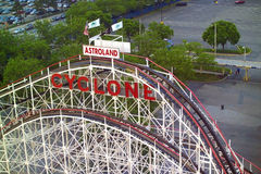 Coney Island Cyclone. The top of the Coney Island Cyclone in Brooklyn, New York City Stock Image