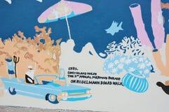 Coney island drawing Royalty Free Stock Photos