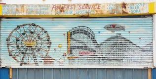 Coney island drawing Royalty Free Stock Photo