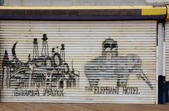 Coney island graffiti Stock Photo
