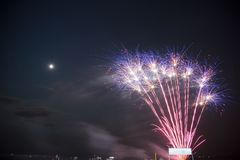 Coney Island Fireworks. Coney Island Amusement Park New York Royalty Free Stock Photography