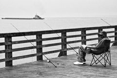 Coney Island fisher Royalty Free Stock Image