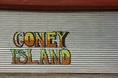 Coney Island-Graffiti stock afbeelding