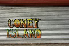 Coney Island Graffiti stock image