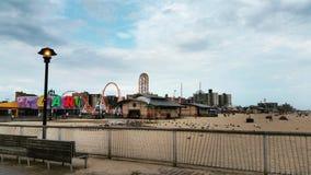 Coney Island i Septembre Royaltyfria Foton