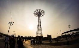 Coney Island karusell Arkivfoton