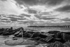Coney Island-Kust stock afbeelding