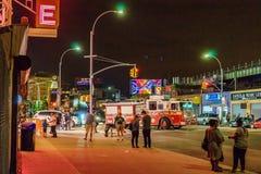 Coney Island Luna Park na noite Brooklyn New York imagens de stock