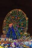 Coney Island Luna Park at night Brooklyn New York Stock Image