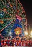 Coney Island Luna Park at night Brooklyn New York Royalty Free Stock Photo