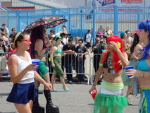The 2013 Coney Island Mermaid Parade 256. The Mermaid Parade is the largest art parade in the nation. A celebration of ancient mythology and honky-tonk rituals Stock Image