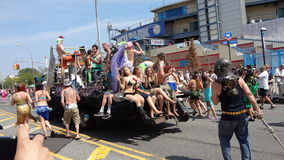 The 2013 Coney Island Mermaid Parade 259. The Mermaid Parade is the largest art parade in the nation. A celebration of ancient mythology and honky-tonk rituals Royalty Free Stock Photo