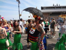The 2013 Coney Island Mermaid Parade 261. The Mermaid Parade is the largest art parade in the nation. A celebration of ancient mythology and honky-tonk rituals Stock Photos