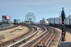 Coney Island, Metro, Brooklyn, New York Stock Foto's