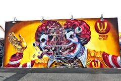 Coney Island New York do parque da fuga da arte dos grafittis fotos de stock